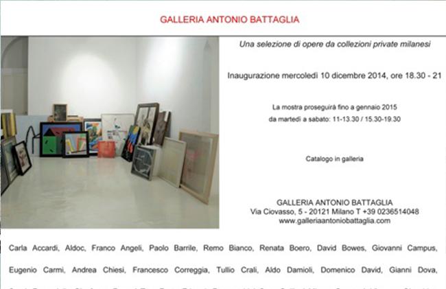 Una selezione di opere da collezioni private milanesi, Galleria Antonio Battaglia, Milano