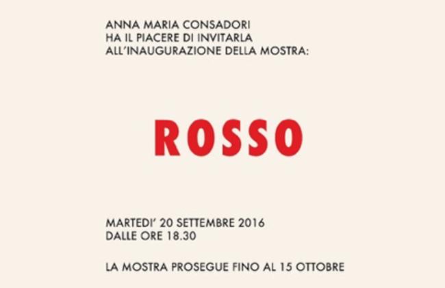 Rosso, Galleria Consadori, Milano
